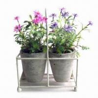 Buy cheap Set of 2 Daisy Flower in Pot, w/ Metal Stand, Customized Designs and Colors are Welcome from wholesalers