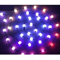 Buy cheap 10 foot reel Magical 3D led RGB pixel ball 50mm dmx led outdoor christmas light ball 12V/24V from wholesalers