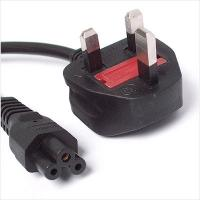 Buy cheap Power Cord UK Plug to C5 Clover Leaf CloverLeaf Lead Mickey Mouse1.8m Cable from wholesalers