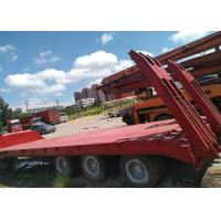 China Gooseneck Lowboy Low Bed Truck Trailer Used Flatbed Trailer 3 Axle 40T 50T 60T 100T on sale
