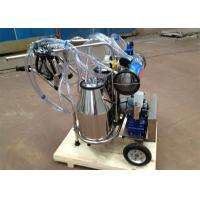 Vacuum Pump Type Dairy Plant Machinery for Cows and Goats, two buckets mobile milker Manufactures