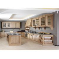 Buy cheap Modern Solid Wood White Kitchen Cabinets MDF Board With Single Sink / Faucet from wholesalers