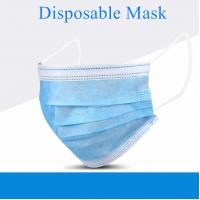 Wholesale 3 Ply Disposable Non Woven Mask , Highly Breathable Disposable Pollution Mask from china suppliers