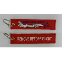 Boeing 737 B737 Tag Remove Before Flight Key Ring Keychain Tag Pilot Crew Manufactures
