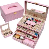 Buy cheap Jewelley Professional Case Display Tray PVC Leather Jewellery Box Pandora Jewelry Box from wholesalers