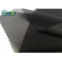 Buy cheap White / Black Polyester Plain Weave Woven Fusing Interlining For Garment Accessories from wholesalers
