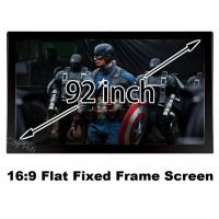 Buy cheap Durable Multimedia Cinema Screen 92 Inch Diagonal 16 To 9 Format Flat Fixed Frame Screens from wholesalers