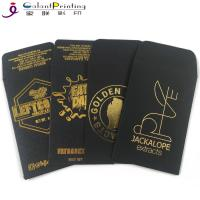 Buy cheap OEM Envelope Printing Services Shatter Black Gold Oil Wax Extract Coin Envelopes 2.25 X 3.5 Inch from wholesalers