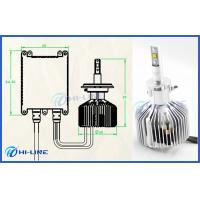 Buy cheap H3 Philips LED Headlight Bulbs BMW Audi 6000K Cool White 3000LM 25W from wholesalers