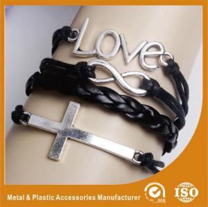 Wholesale Zinc Alloy Metal Ladies Leather Bracelets Leather Buckle Bracelet from china suppliers