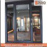 Buy cheap Dark Grey Sliding Office Window , Fly Screen Aluminium Sliding Glass Windows from wholesalers