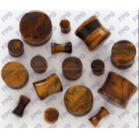Buy cheap Tiger Eye stone Ear Plug body jewelry 3-25mm Natural stone from wholesalers