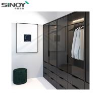 Buy cheap Wardrobe Black Ral9005 Back Painted Colored Glass For Interior Dressing Room Deco from wholesalers