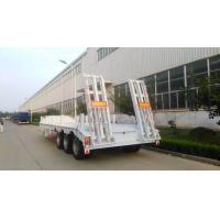 Buy cheap 13000M 3 Alxes Lowbed Heavy Duty Semi Trailers 50-60T 12 Tires With 2 Legs from wholesalers