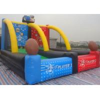 Buy cheap PVC Customized Inflatable Soccer Field , Funny Basketball Shooting Games from wholesalers