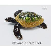 Buy cheap metal alloy turtle trinket jewelry box with magnet closure good quality and various designs from wholesalers