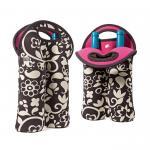 Buy cheap Portable 2 Pack Red Wine Bottle Cooler Sleeve , Neoprene Bulk Wine Bottle Cooler Bag from wholesalers
