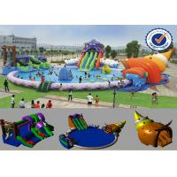 Buy cheap PVC Inflatable 30M Pool Inflatable Water Parks Huge Slide For Summer from wholesalers