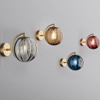 Buy cheap Nordic Glass Metal Bedside Modern Wall Light g9 led wall Lamps from wholesalers