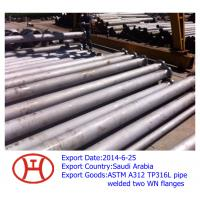 Buy cheap ASTM A312 TP316L steel pipe welded with 2 flanges from wholesalers