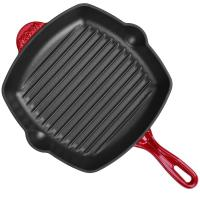 Wholesale Enamel square cast iron grill pan 26cm from china suppliers