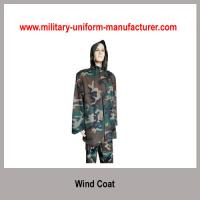 Buy cheap Military Water-proof Woodland Camouflage Wind Coat With Hood from wholesalers