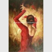 Wholesale Modern Handmade Flamenco Dancer Oil Painting , Abstract Wall Art Canvas Painting from china suppliers