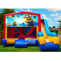 Buy cheap 7in1 kids Despicable Me minion bounce house with basketball hoop N obstacles inside for sale from wholesalers