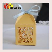 Buy cheap Custom Wedding Gift Boxes laser cut with ribbon , Cross Favor Boxes from wholesalers