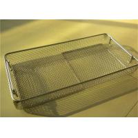 Wholesale Medical Sterilizing Galvanized Stainless Steel Wire Mesh Baskets For Instrument Cleaning from china suppliers