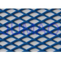 China Perforated Architectural Expanded Metal , Blue / Red Steel Expanded Metal Mesh on sale