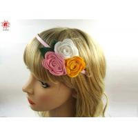 Buy cheap Beautiful Girls Metal Bow Hair Bands With Flowers , Fashion Hair Accessories from wholesalers