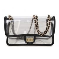 Buy cheap High Transparency PVC Cosmetic Bag Cross - Body Purse Bag With Chain Shoulders from wholesalers