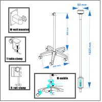 Buy cheap Full Aluminum Alloy Metal Steering Lamphead LED Surgical Lamp Ks-Q6b White Color from wholesalers