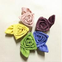 Buy cheap 2 Inch Satin Ribbon Fabric Craft Flowers Rolled Art For Valentine'S Day from wholesalers
