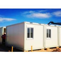 China Exquisite Simple Moving Container Homes Anti - Seismic With Laser Cut Screen on sale