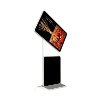Buy cheap 55 inch floor standing hd lcd screen digital signage kiosk with WiFi with inside air conditioner from wholesalers