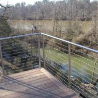 Wholesale Modern design balcony round handrail and post stainless steel railing from china suppliers