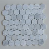 China 2 Inch Hexagon Equator Marble  Mosaic Tiles Nature Stone Tile For Wall and Floor Decoration on sale