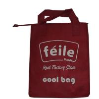 Wholesale Red Small  Lunch Non Woven Cooler Bag for Frozen Food , Silk Screen Logo from china suppliers