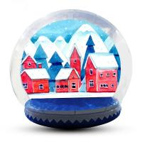 Buy cheap Advertising Custom Christmas Blow Up Snow Globe Double And Quadruple Stitched from wholesalers