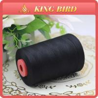 Buy cheap Color Cone 20s/2 Spun Polyester Sewing Thread Black Dyed 3000m from wholesalers