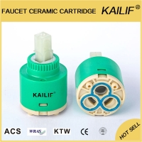 Buy cheap Ceramic 35mm Bathroom Taps Faucet Valve Cartridge Flat Double Seal from wholesalers