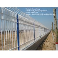 Buy cheap Square post security crimped iron steel fencing from wholesalers