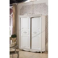 Buy cheap Neoclassical Bedroom Furniture Wooden Wardrobe with Sliding Closet Door D-9007 from wholesalers