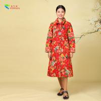 Buy cheap Women Winter Chinese Cotton Padded Jacket Comfortable With Flower Pattern from wholesalers