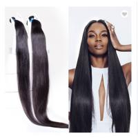 Buy cheap 40 Inches 100% Peruvian Virgin Straight Human Hair Weave For Black Extensions from wholesalers