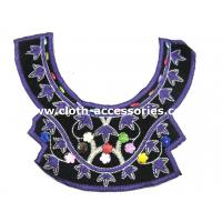 Wholesale Purple Embroidery Beaded Neck Trim Handmade For Winter Maxi Dress from china suppliers
