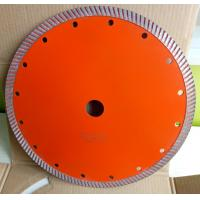 Buy cheap 230mm Continues Turbo Diamond Saw Blade , Hot Press Concrete Cutting Saw from wholesalers