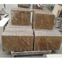 Buy cheap Light emperador Polished Marble Floor Tile for indoor outdoor project from wholesalers